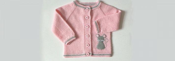 Şiş Örücülüğünde Bebek Hırkası Örme